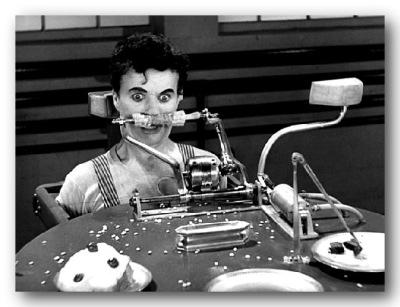 Charlie Chaplin Predicts ODD Breakfast in Modern Times